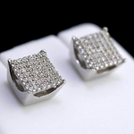 Square 925 Silver 7MM Earrings