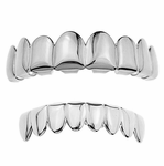 Silver 8/8 Best Grillz Set