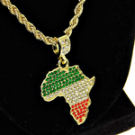 """Africa Color 24"""" Gold Rope Chain"""