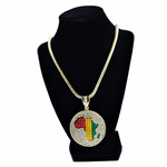 Africa Medallion Franco Chain