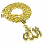 "Allah 24"" Gold Rope Chain"