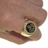 Allah Gold Tone Round Ring