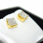 7MM Square Basket 925 Earrings