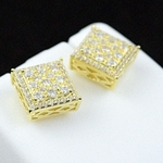 Square Gold Plated 10MM Earrings