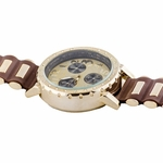 Big Iced-Out Gold Tone Watch