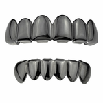 Black Plated Grillz Set