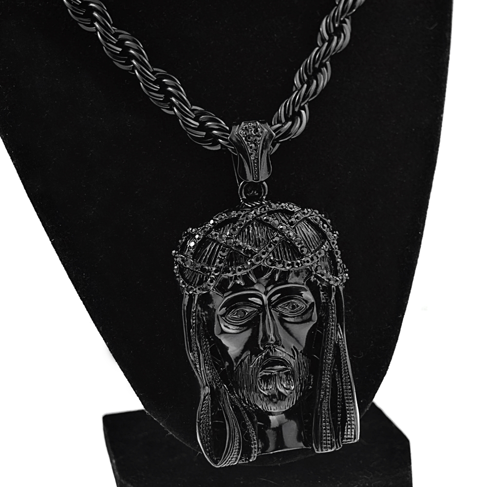 Black jesus piece 30 rope chain rope chains black jesus piece 30 rope chain mozeypictures Images