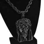 "Black Jesus Piece 30"" Rope Chain"