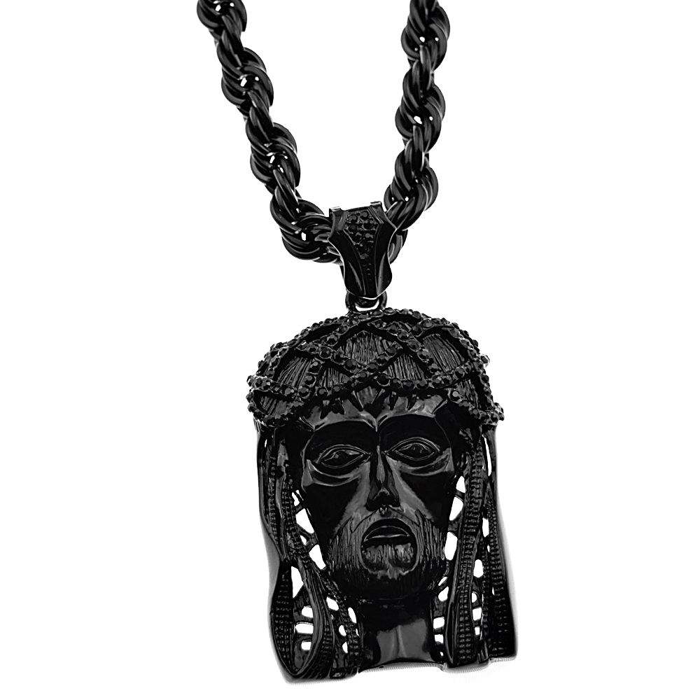 Black jesus piece 30 rope chain rope chains black jesus piece 30 rope mozeypictures Images