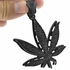 Black On Black Weed Leaf Pendant