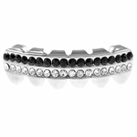 Black Two-Row Lower Grillz