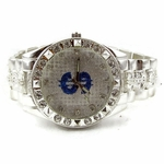 Blue Dollar Sign Hip Hop Watch