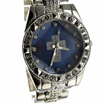Blue Face Cross Hip Hop Watch