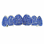 Blue Micro Pave Top Grillz
