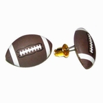 Brown Football Sports Earrings