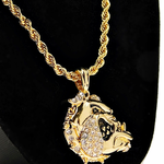 Bulldog Gold Rope Chain 24""