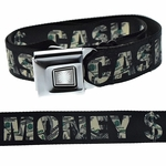 Cash Money $ Buckle-Down Belt