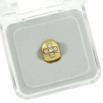 Gold Cross CZ Single Tooth