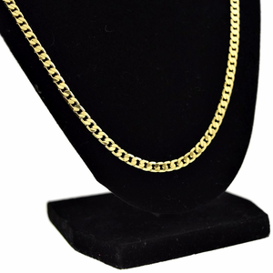 "Cuban Chain 30"" Gold Plated 4MM"