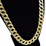 "30"" Iced-Out Cuban Chain Gold"