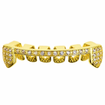 Gold Slim CZ Bottom Half Grillz