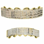 Diamond-Cut Gold Grillz Set
