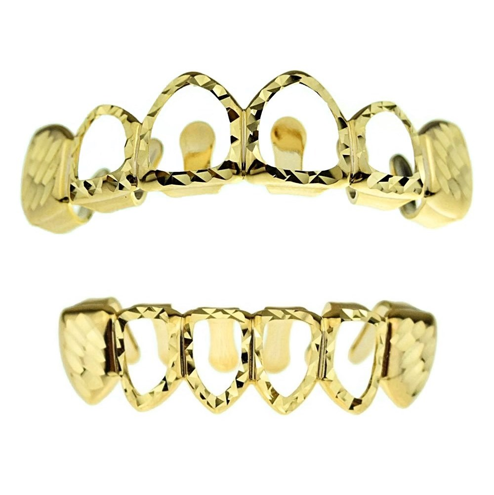 Real Diamond Cut Grillz