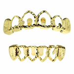Diamond-Cut 4 Open Grillz Set