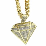 Diamond Shape Gold Cuban Chain