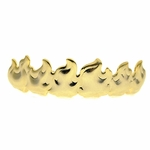 Gold Flames Upper Grillz