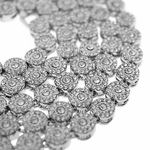Flower Cluster Silver Chain