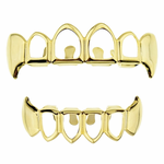 Gold 4 Open Fang Grillz Set