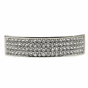 Silver 3 Row Upper Grillz