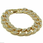 Iced-Out Miami Cuban Bracelet 8""