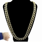 Full Stone Cuban Chain & Bracelet 30""