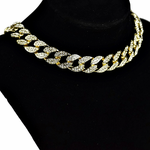 "Gold 16"" Cuban Choker Chain"