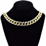 "Gold 18"" Cuban Choker Chain"