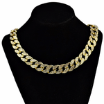 "Gold 20"" Cuban Choker Chain"