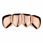 Rose Gold 4 Tooth Lower Grillz