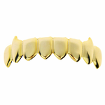 Gold 8 Tooth Lower Fang Grillz