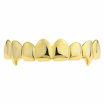 Gold 8 Tooth Top Fang Grillz