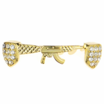 Gold AK-47 Iced-Out Low Grillz