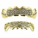Gold Cluster Grillz Set