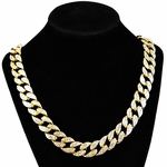 "Gold 24"" Cuban Chain Necklace"