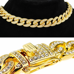 "18k Gold Plated 16"" Cuban Choker"
