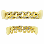 Gold Cuban CZ Grillz Set