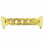 Gold Cuban CZ Top Fangs