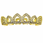 Gold CZ 4 Open Top Grillz