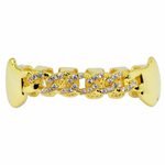 Gold Cuban CZ Lower Fangs