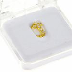 Gold CZ Bottom Cross Single Tooth